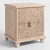 Natural Carved Zaria Nightstand