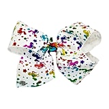 JoJo Siwa Signature Rainbow Metallic Unicorn Print Bow