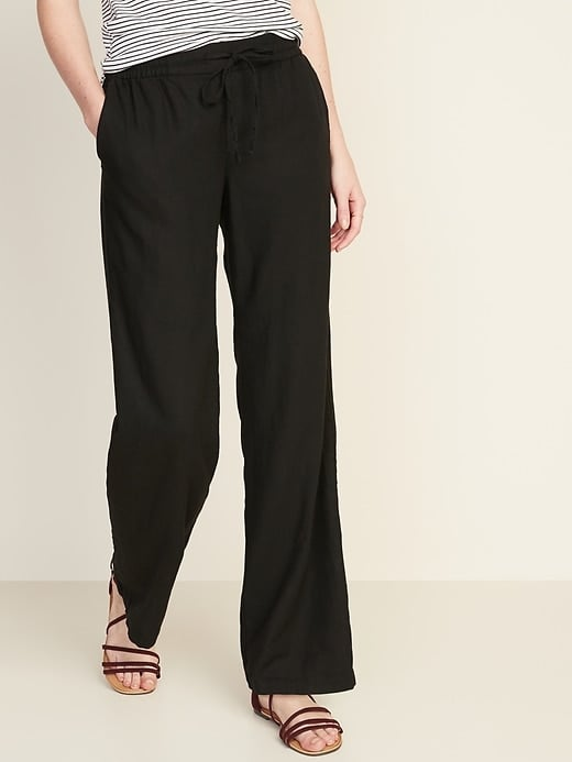 Old Navy Mid-Rise Wide-Leg Linen-Blend Pull-On Pants