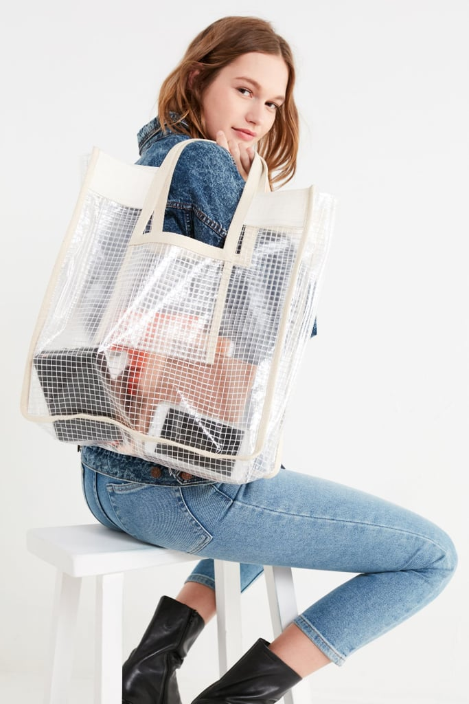 Urban Outfitters Grid Plastic Shopper Tote Bag