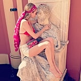 Poppy Delevingne cozied up to a new man. Source: Instagram user poppydelevingne