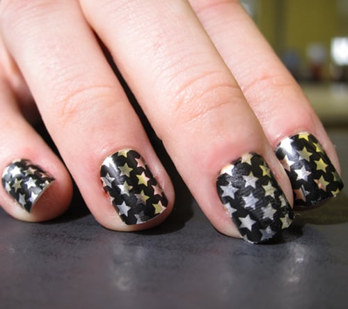 Nail appliques couldn't be any hotter, but if you bite your nails or don't  have the free time to change out your Minx or stickers every few days, ... - Easy, Cheap Metallic Star Nail Art POPSUGAR Beauty