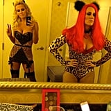Jenny McCarthy slipped into a sexy kitten costume. Source: Twitter user JennyMcCarthy