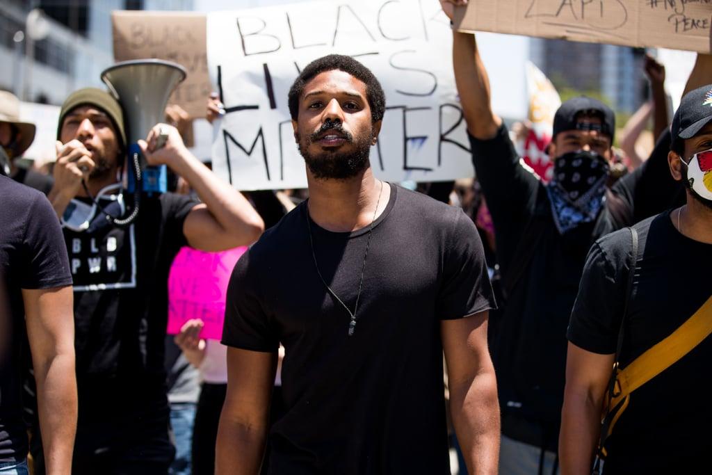 Michael B. Jordan Speaks at Black Lives Matter March in LA