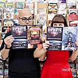 Comic book engagement session.  All photos: Heather Kincaid