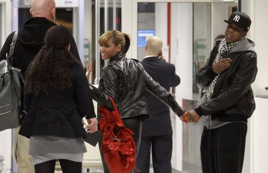Beyonce and Jay-Z spotted at The Nice Airport