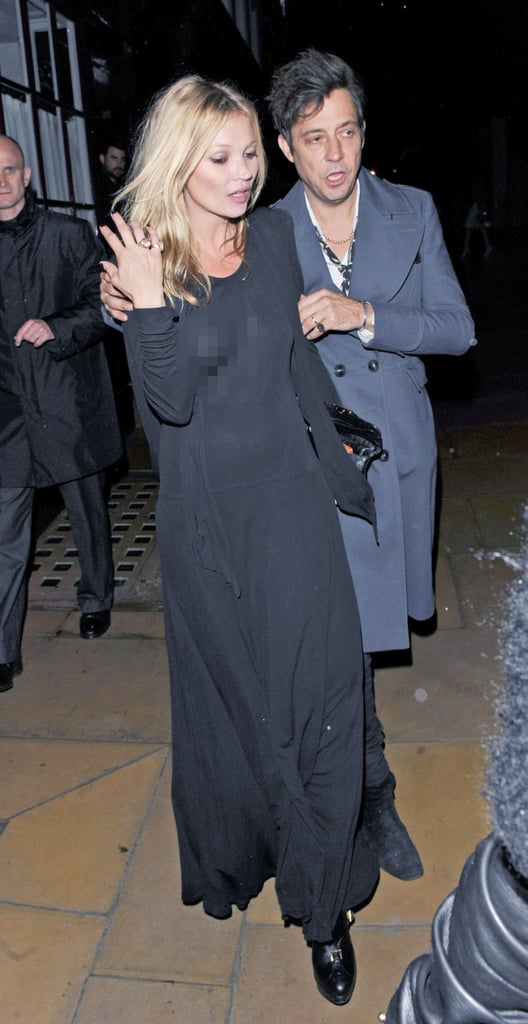 Kate Moss and Jamie Hince hung out in London.
