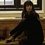 Rachel (Lea Michele) gets her dancing shoes on in the Nov. 15 episode.