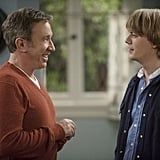 Christoph Sanders and Tim Allen in ABC's Last Man Standing.  Photo copyright 2011 ABC, Inc.