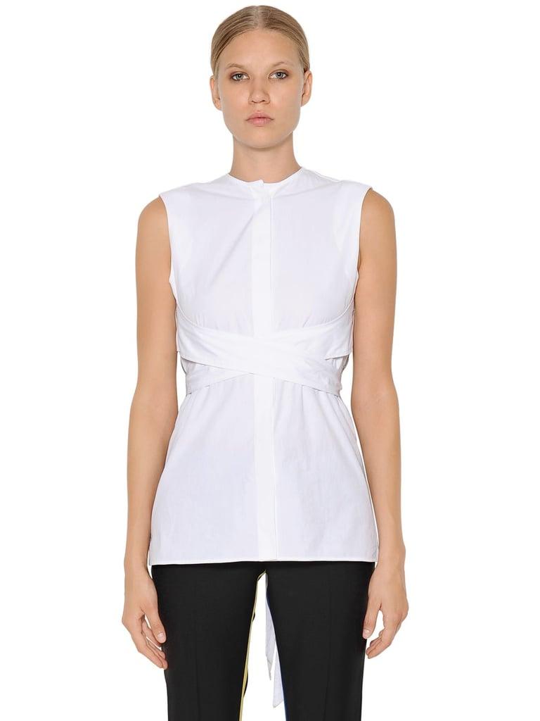 Each X Other Belted Wrap Cotton Poplin Shirt ($281)
