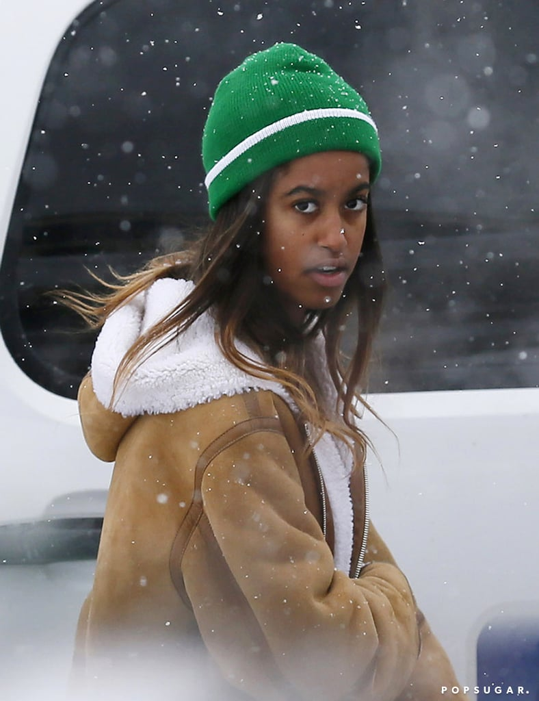 """Just days after moving out of the White House, Malia Obama popped up at the Sundance Film Festival in Park City, UT, on Tuesday. The 18-year-old daughter of former President Barack Obama and First Lady Michelle was spotted leaving the Red Banjo Pizza Parlour after a meal with friends on Main Street, bundled up against the snowy weather in a shearling coat and green beanie. That same day, Malia was also seen doing some shopping while a Secret Service guard stood close by; an onlooker told Us Weekly that Malia """"bought a Sundance sweatshirt."""" After attending the inauguration of Donald Trump last week, Barack and Michelle jetted off to Southern California for some rest and relaxation. On Saturday, Barack was seen playing a round of golf at Oracle founder Larry Ellison's private club in Rancho Mirage, and it was reported on Monday that the couple had arrived in the British Virgin Islands to continue their postpresidency vacation. While Malia may have fled to a less tropical location, it shouldn't come as much of a surprise that she would want to check out the famed film festival. On Monday, news broke that she landed an internship with Harvey Weinstein and will be working out of The Weinstein Company's NYC offices before she begins classes at Harvard in the Fall. Not a bad little gap year so far!      Related:                                                                The Obama Girls Have Grown Up Before Our Eyes                                                                   Malia and Sasha Obama's Cutest Moments With Dad Barack"""