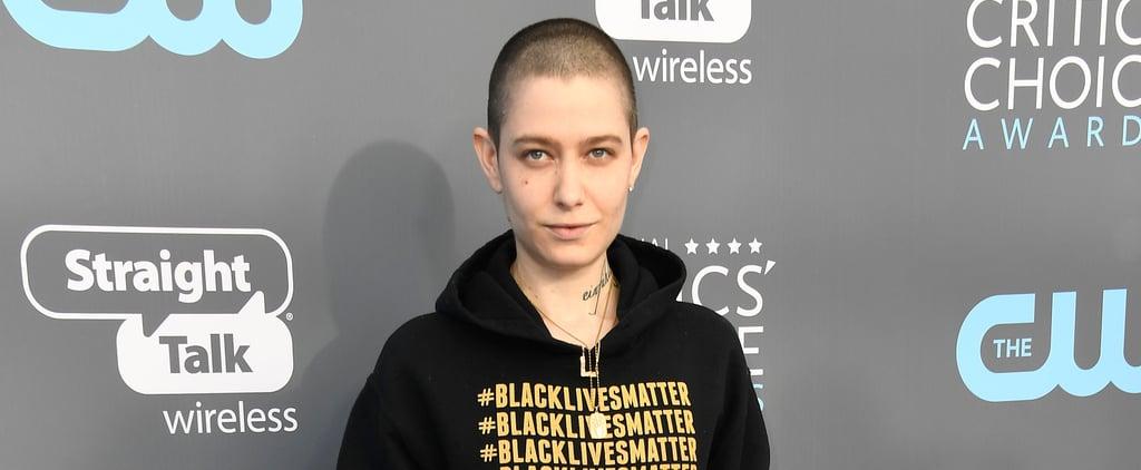 Asia Kate Dillon's Sweatshirt at Critics' Choice Awards 2018