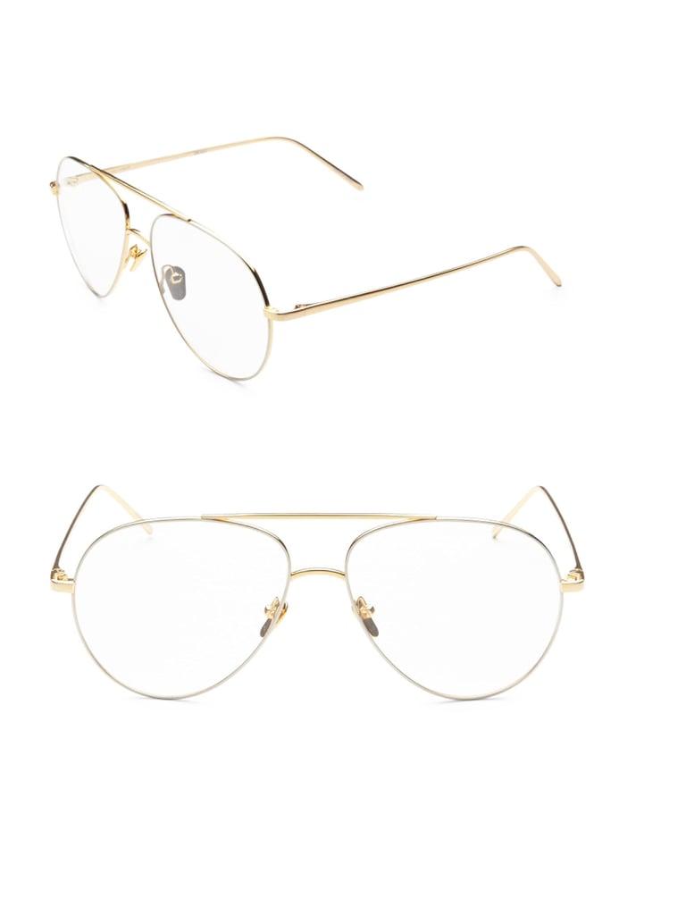 Aviator optical glasses Linda Farrow 3WCJw7dZi