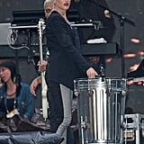 Gwen Stefani rehearsed with her band, No Doubt, in NYC.
