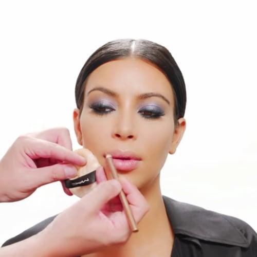Kim Kardashian Lip Liner How-To