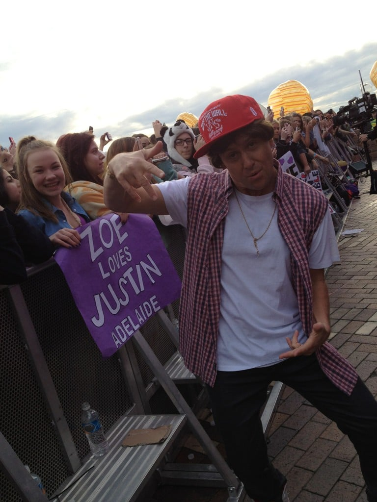 Larry Emdur impersonated Justin Bieber. Source: Twitter user larryemdur