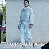 Selena Gomez White Gucci Loafers