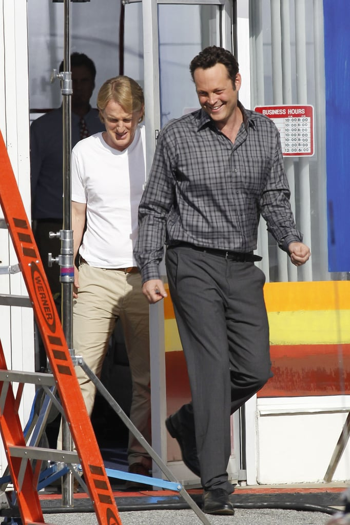 Vince Vaughn and Owen Wilson shared a laugh.