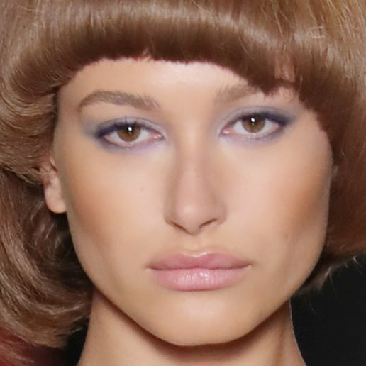 Hailey Baldwin's Bowl-Cut Bob at Jeremy Scott Fashion Week