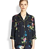 Erdem's florals would be too pretty to sleep in. Luckily, this cropped-sleeve top ($990) will look chic tucked into a pencil skirt.