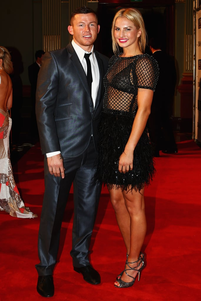Todd Carney and girlfriend Lauryn Eagle at the 2012 Dally M Awards.