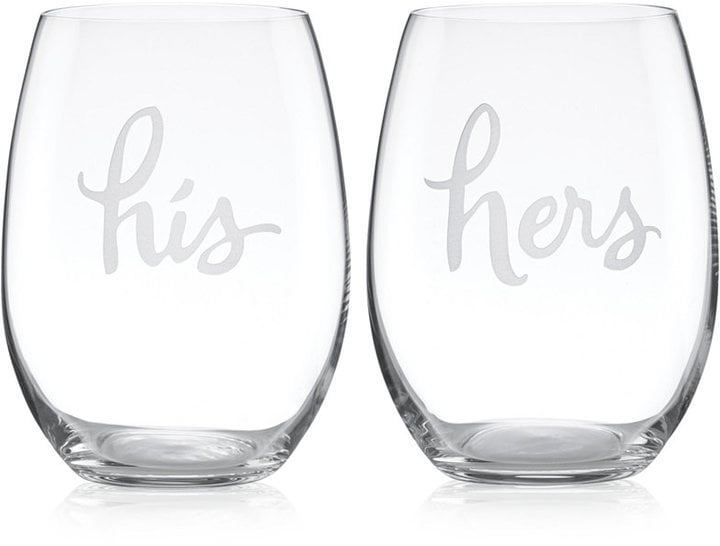Kate Spade Stemless Wine Glasses