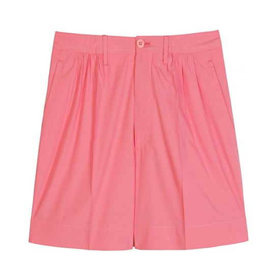 "Miu Miu Pleated Shorts, $235   Pair with:   <iframe src=""http://widget.shopstyle.com/widget?pid=uid5121-1693761-41&look=3445735&width=3&height=3&layouttype=0&border=0&footer=0"" frameborder=""0"" height=""244"" scrolling=""no"" width=""286""></iframe>"