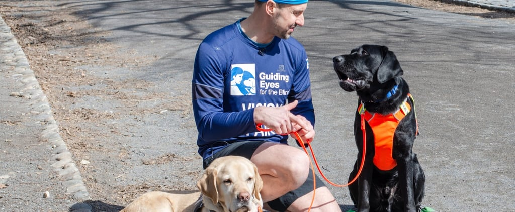 Blind Athlete Runs United NYC Half Led by Service Dogs