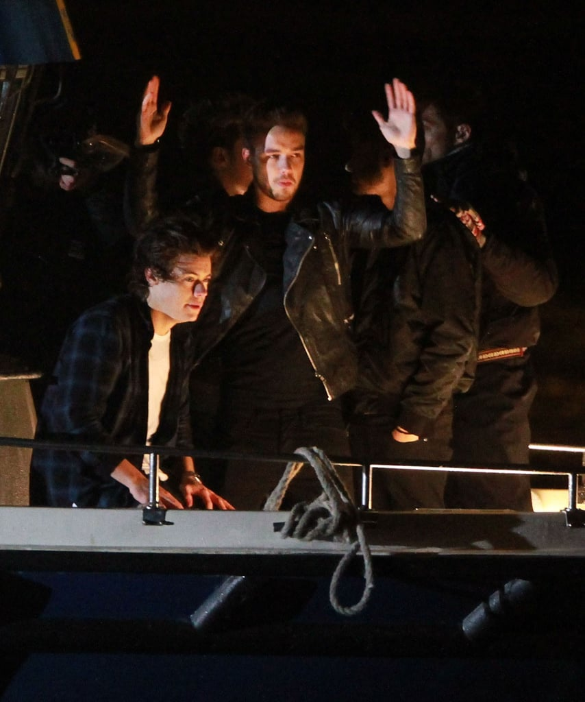 Harry Styles and Liam Payne had a conversation on the boat.