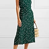 Faithfull the Brand Gizele Cutout Polka Dot Midi Dress