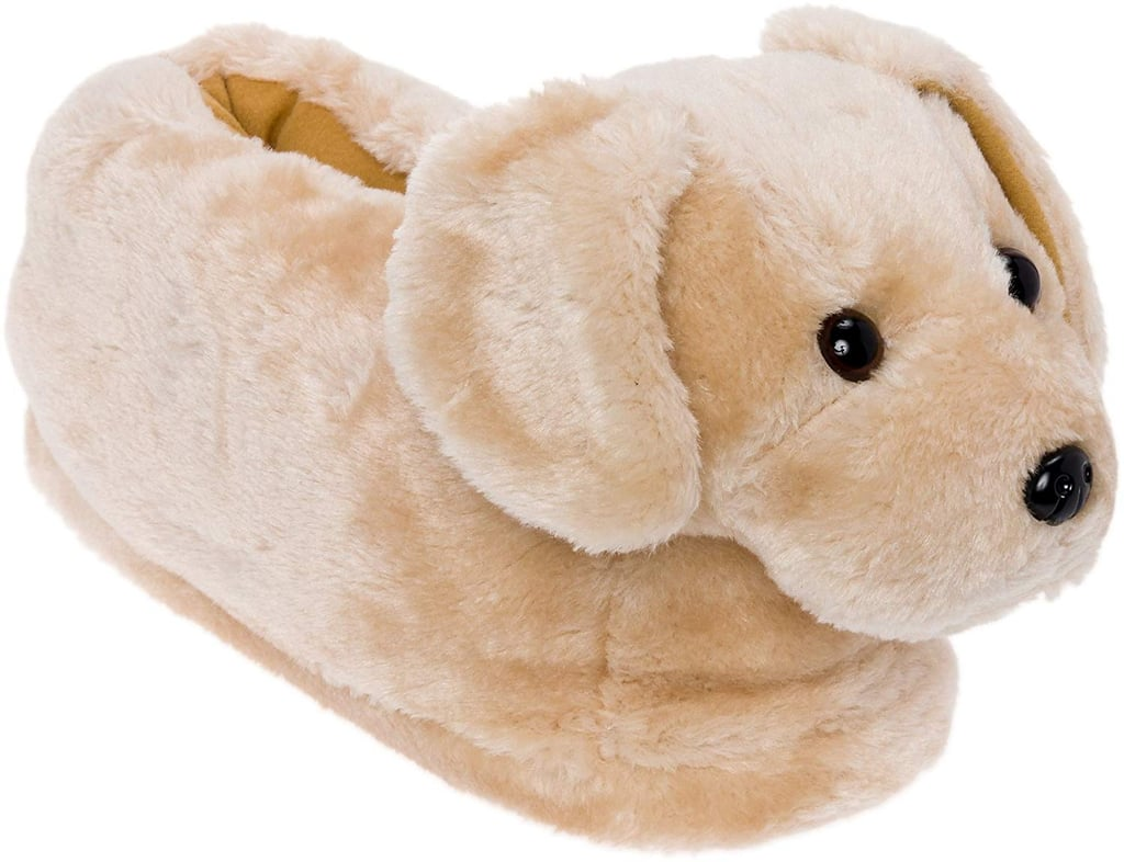 Silver Lilly Golden Retriever Slippers