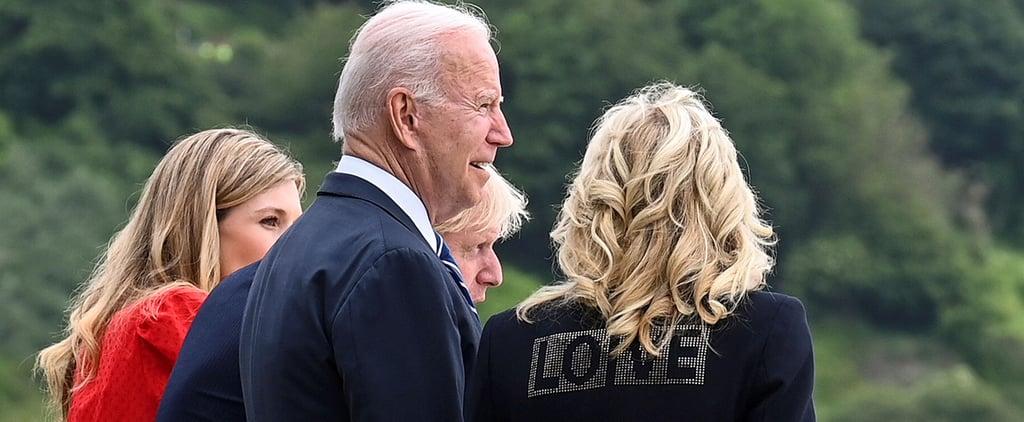 "Is Jill Biden's ""Love"" Blazer Shading Melania Trump?"