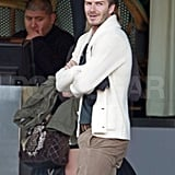 David Beckham visited LA's SLS hotel to see Prince Harry.