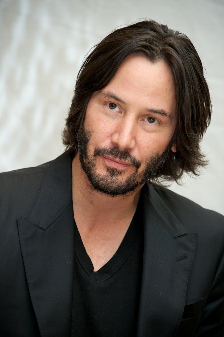 Keanu Reeves Male Celebrities With Long Hair Popsugar