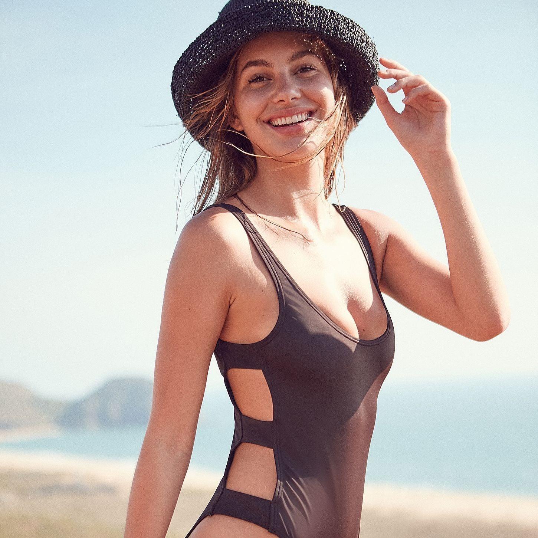 b2770b58f9f Karla Colletto Rick Rack Halter Monokini | Best One-Piece Swimsuits on Sale  | POPSUGAR Fashion Photo 14