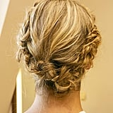 The final look is a crown of braids that's easy to do yourself.