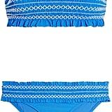 Tory Burch Costa Smocked Bandeau Bikini ($230)