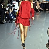 Gisele Bündchen on the Dolce & Gabbana Runway at Milan Fashion Week Spring 2003