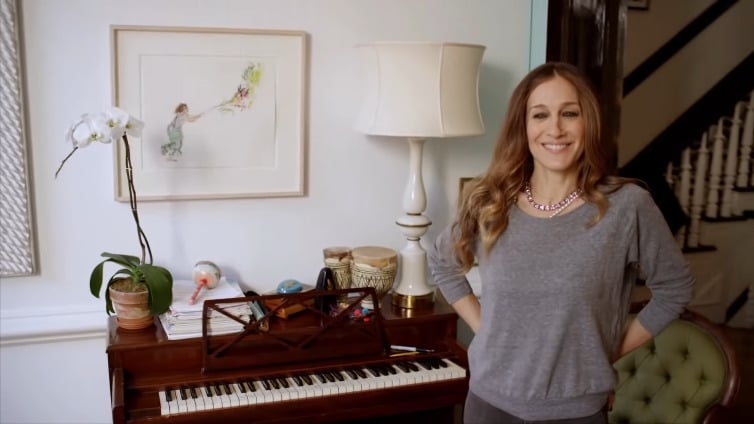 The mom of three probably hears a tune or two from her kids, as they all play the piano.