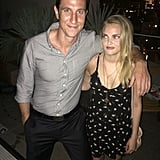 Here he is looking adorable with Tricia from OITNB (RIP).