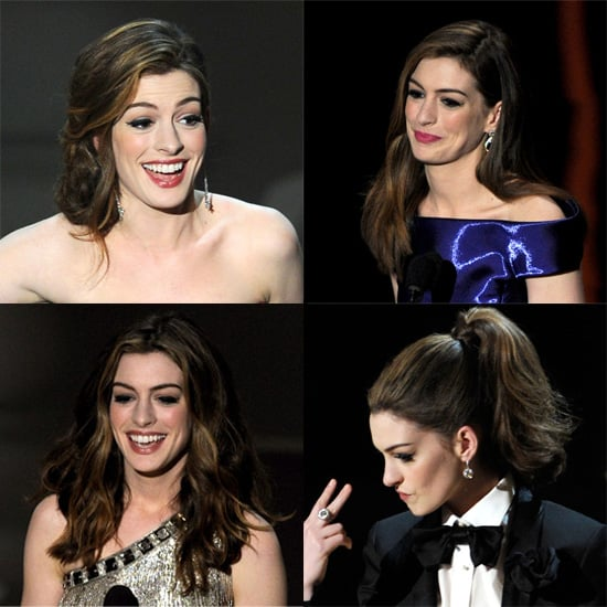 How to Get Anne Hathaway's Oscars Show Hairstyles