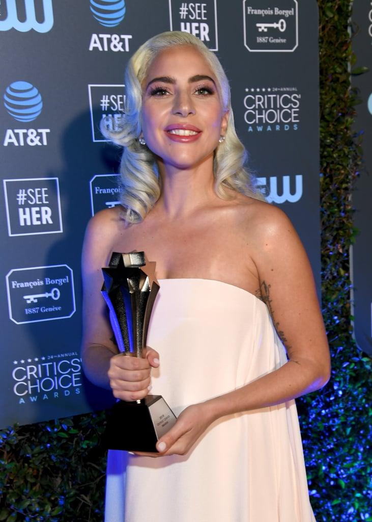 Lady Gaga Chokes Up While Thanking Bradley Cooper at the Critics' Choice Awards