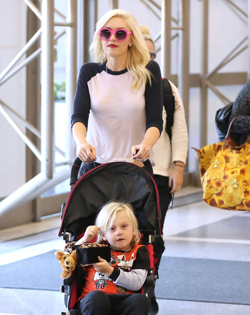 Gwen Stefani and Zuma Arrive For a Stay in London