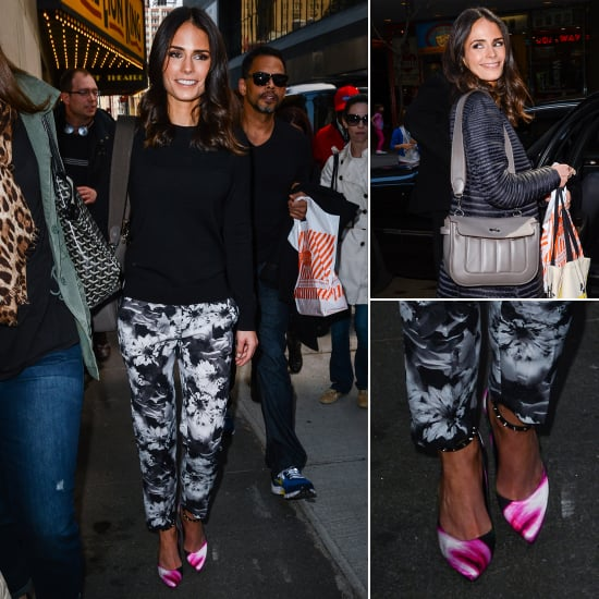 Jordana Brewster Wearing Printed Pants in NYC | Pictures