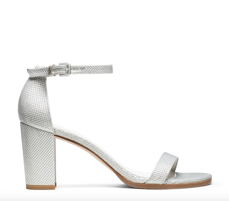 Nearlynude Sandal in Noir Argento Silver ($398)