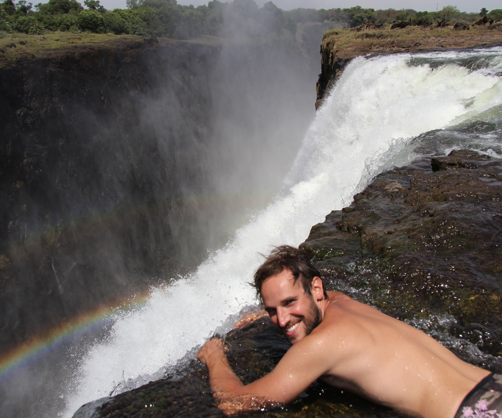 Swim in Devil's Pool at Victoria Falls in Africa