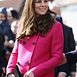 When Kate Showed Off Her Bump in Pink