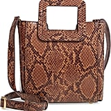 Staud Mini Shirley Snake Embossed Leather Bag