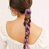 Rapunzel: Purple Pleated Scarf Pony