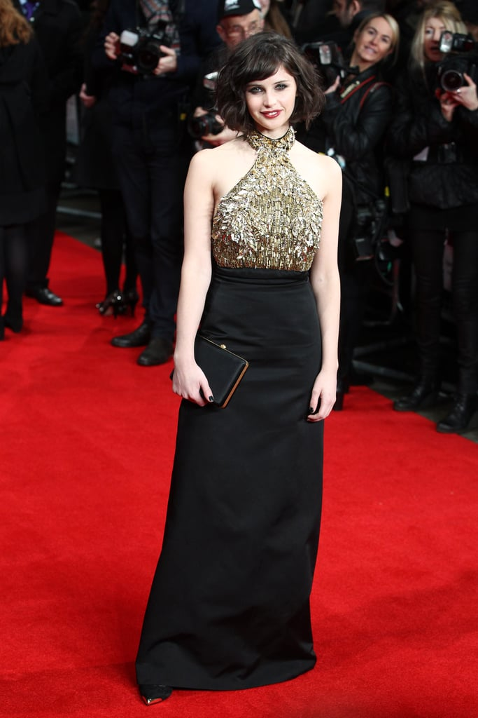 Felicity Jones at the UK Premiere of The Invisible Woman